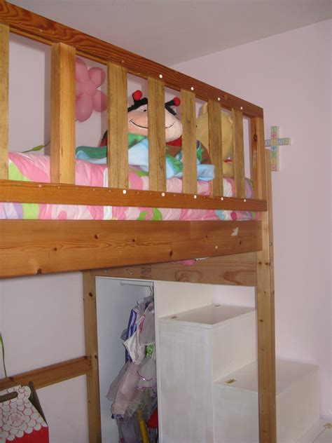 ana white  project loft bed stairsnew rail diy