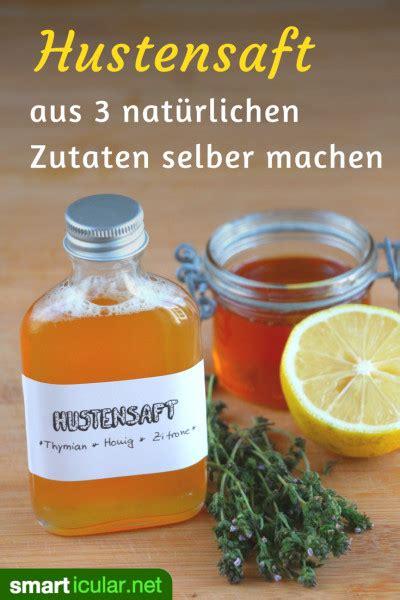 thymiantee selber machen rezept f 252 r nat 252 rlichen thymian honig hustensirup mit zitrone
