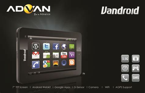 information technology advan vandroid t1 tablet android 7 inch and supports 3 5g