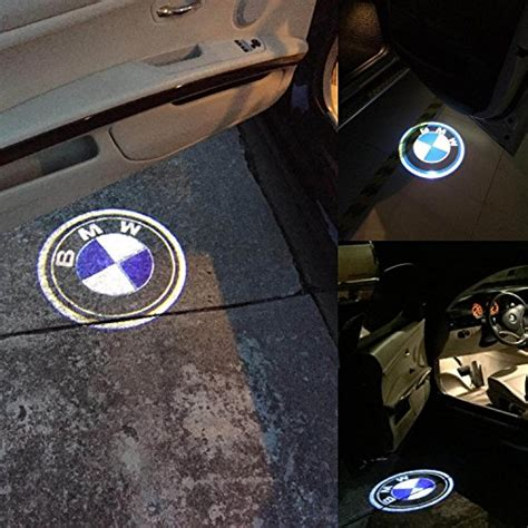 icakper bmw car door led light logo hd projector easy
