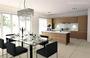 Decoration interieur salon salle a manger pour deco for Deco cuisine avec salon salle a manger design