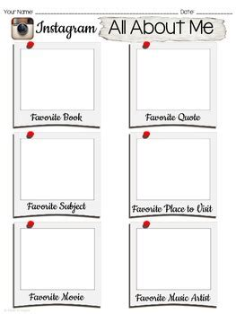 About Me Template For Students by All About Me Day Instagram Template By Made To