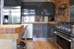 Holz Lack Grau : holz arbeitsplatten machen die moderne k che gem tlich ~ Watch28wear.com Haus und Dekorationen