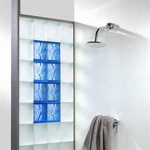 Douche Mur Verre : la brique de verre dans la salle de bains inspiration bain ~ Zukunftsfamilie.com Idées de Décoration