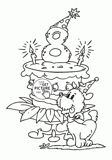 happy  birthday coloring page  kids holiday