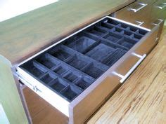 drawer inserts create an appealing display for jewelry and