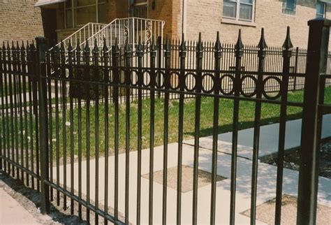 wrought iron fence wrought iron fence chicago top line fence