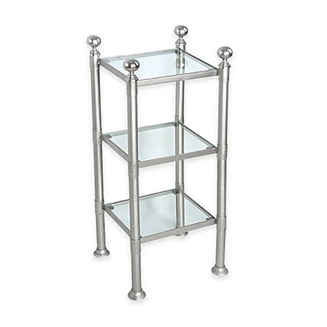 Small Storage Shelf Unit by 3 Shelf Small Steel And Glass Storage Unit In Pewter Bed
