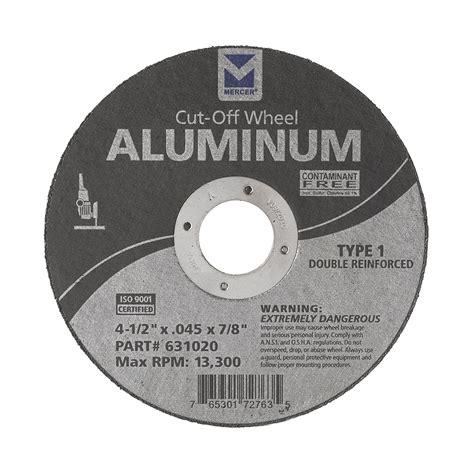 aluminum cut  wheels mercer industries