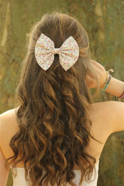 Cool Hairstyles For Hair For by Floral Hair Bow For Sweet And Cool Hairstyles For