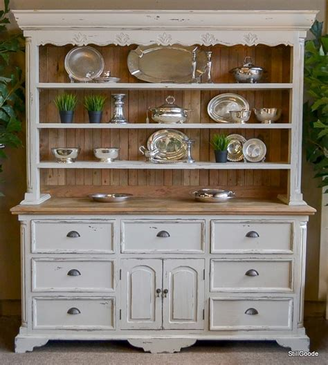 Country Style Kitchen Furniture by Large Country Style Ivory China Cabinet With Open