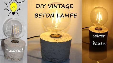 Diy Designer Vintage Beton Lampe Selber Bauen (tutorial