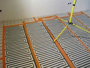 plancher chauffant electrique chauffage au sol thermalu With pose parquet chauffage au sol