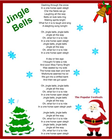 Popular Christmas Songs Lyrics Photozzle