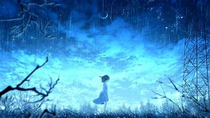 Anime Rain 4k Bright Raining Wallpapers Background