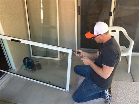 sliding glass door repair repair uneven sliding glass