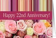 22nd wedding anniversary 22nd wedding anniversary cards from greeting card universe