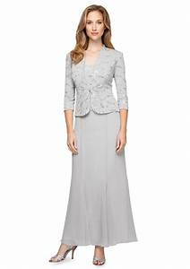 alex evenings three quarter sleeve long jacket dress With belk dresses for weddings