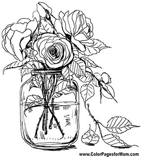 Advanced Coloring Pages Flower Coloring Page 67