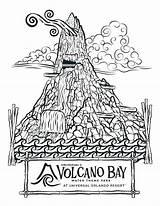 Coloring Pages Volcano Water Bay Park Universal Slide Theme Krakatau Books Orlando Amusement Volcanoes Printable Getcolorings Comic Landscape Getdrawings Close sketch template