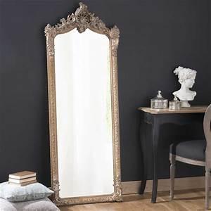 miroir psyche en bois et resine dore h 168 cm With psyche maison du monde