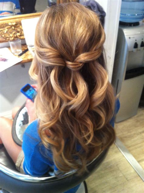 Wavy Half Updo Hairstyles by Bridal Half Updo Wavy Curly Cascading Updo Hair Up By