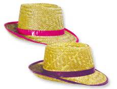 4FunParties Neon Color Straw Fedoras