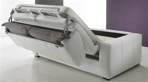 canapé convertible rapido en cuir noir et blanc