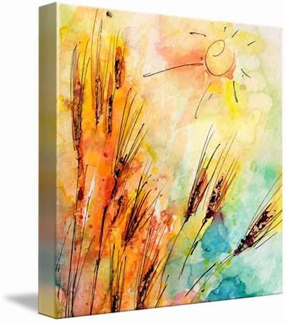 Watercolor Ginette Rye Harvest Sun Imagekind Callaway