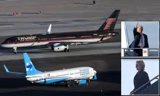 trump force  passes hillary clintons campaign plane