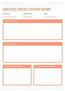 Monthly Project Progress Report Template Customize 23 Weekly Report Templates Online Canva