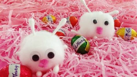 itty bitty cotton ball bunny crafts allfreekidscraftscom