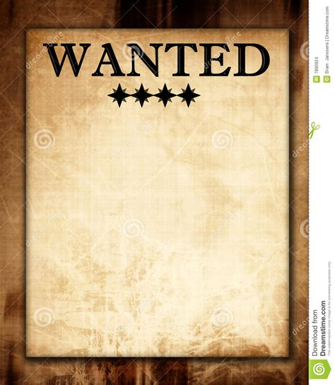 wanted paper stock illustration image  dead page