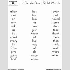 Free Printables Dolch 1st Grade Sight Words  L E S S O N S