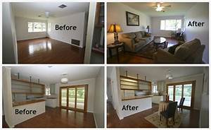 Home staging before and after - Crescent City Living