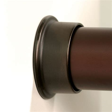 closet rod flanges rubbed bronze set of 2 in