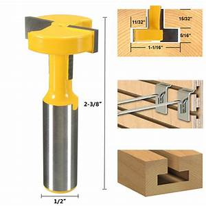 Straight T-Slot Router Bit 1/2 Inch Shank Carbide Wood