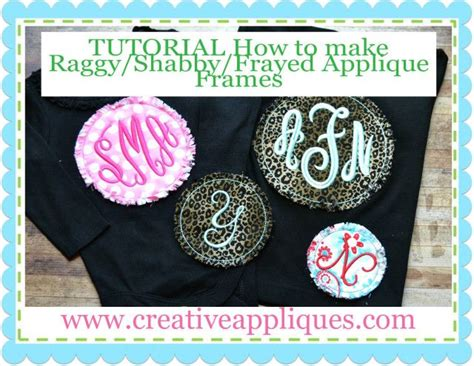 raggy shabby frayed applique frame tutorial repin     http