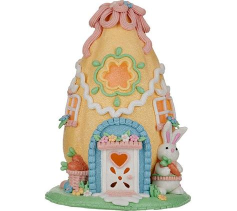 8 Illuminated Easter Egg Cottage By Valerie — In