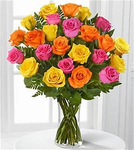 Dill's Electricity Rose Bouquet 24 Pink, Yellow, and ...
