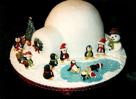 skating penguins  igloo christmas cake susies cakes