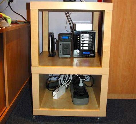home office making  cheap ikea server rack general