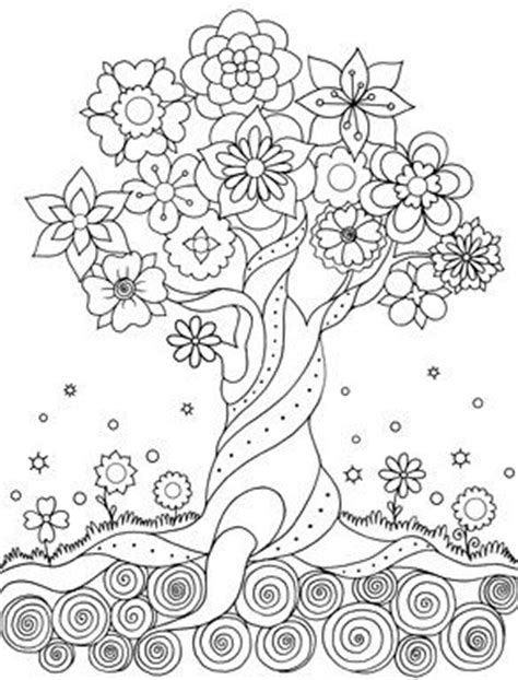 the 407 best adult colouring trees leaves landscapes