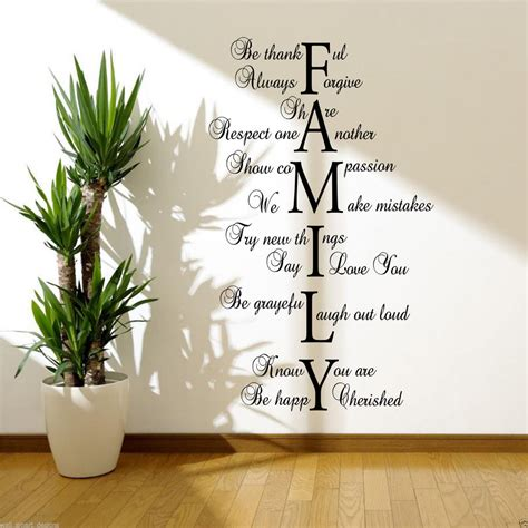 bureau direction design family wall sticker lounge quote decal