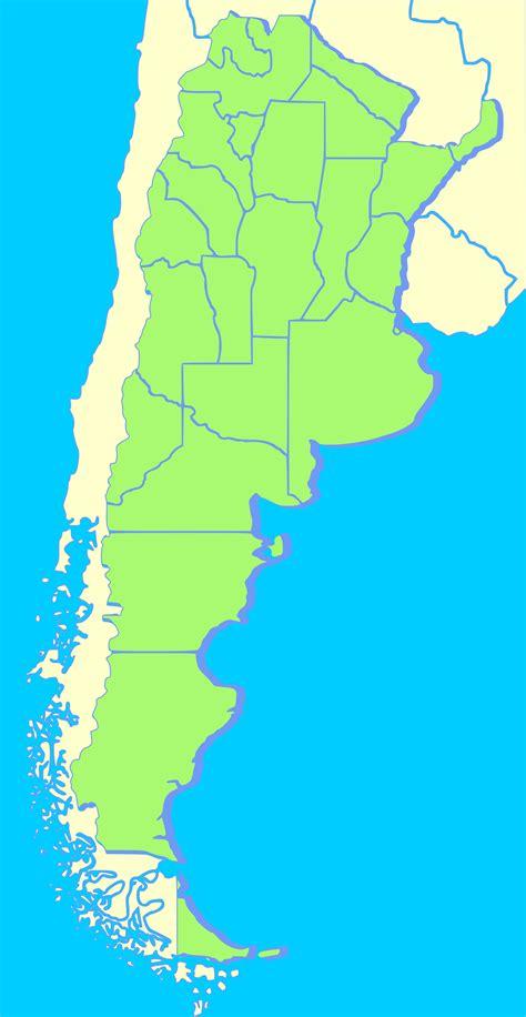 argentina blank mapsofnet