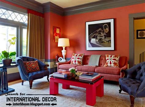 How To Use Red Color In The Interior, Color Combinations