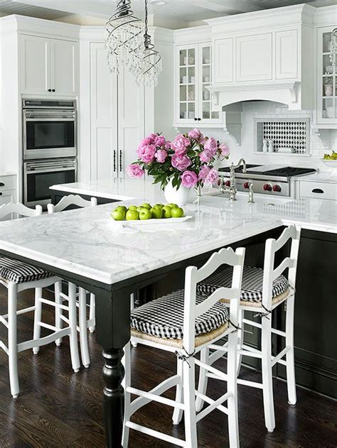 white kitchen island with seating extended seating the island and the black white