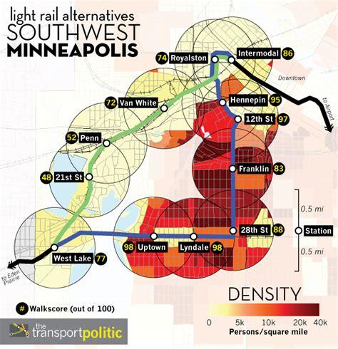 light rail mn green line southwest minneapolis transit route selection process may