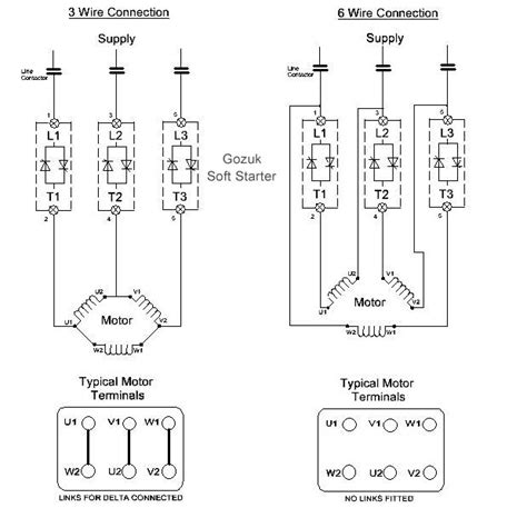 6 Wire Motor Diagram Y soft starter in 6 wire connection