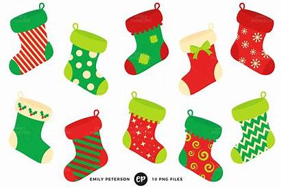 Clip Stocking Clipart Stockings Fireplace Toes Tinsel